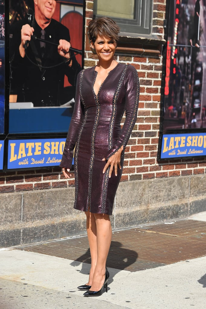 Halle Berry looked gorgeous in NYC on Monday.