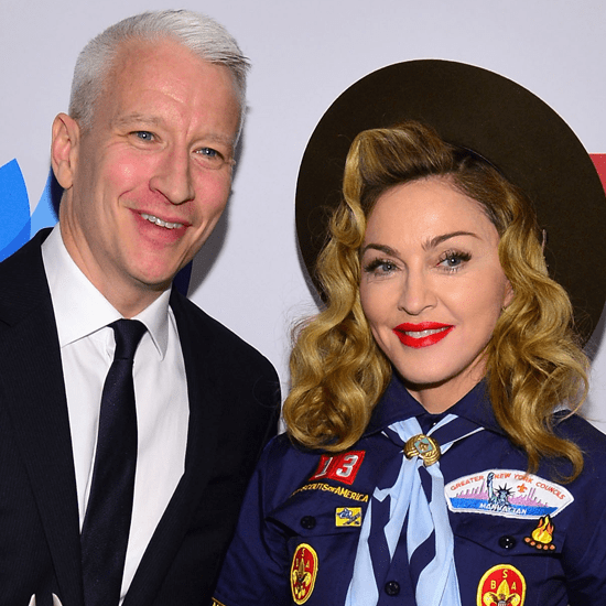 Anderson Cooper Kisses Madonna (Video)