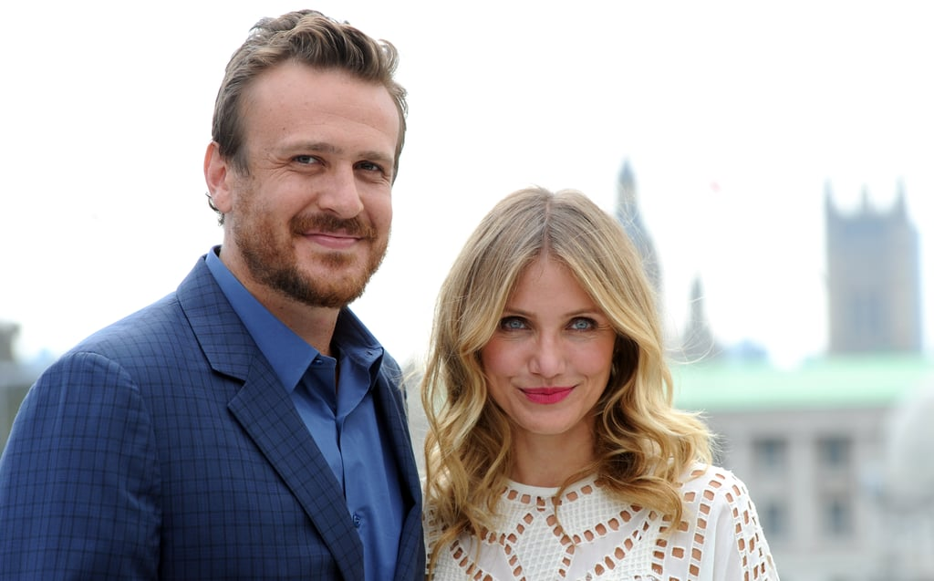 Cameron Diaz and Jason Segel promoted their movie Sex Tape in London on Wednesday.