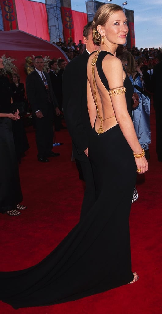 Cate Blanchett in a Backless Black Gown at the 2000 Oscars