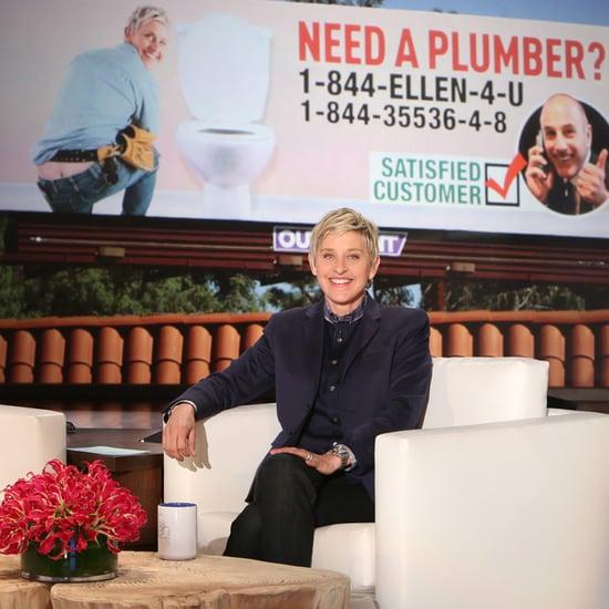 Matt Lauer Sets Up Ellen DeGeneres on Plumber Billboards