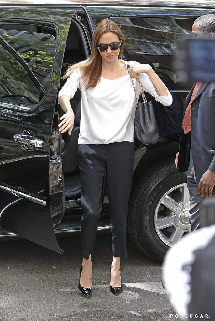 Angelina Jolie Trades London For the Big Apple