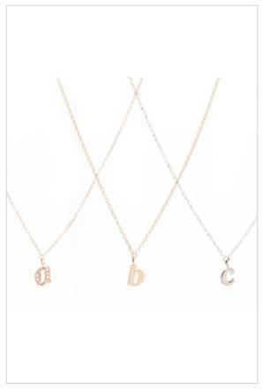 Ariel Gordon Jewelry Mini Alphabet Charm Necklace