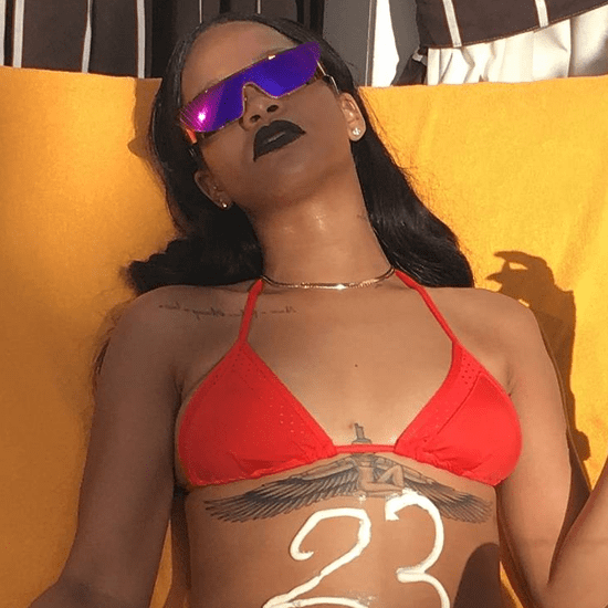 Rihanna's Red Bikini May 2016