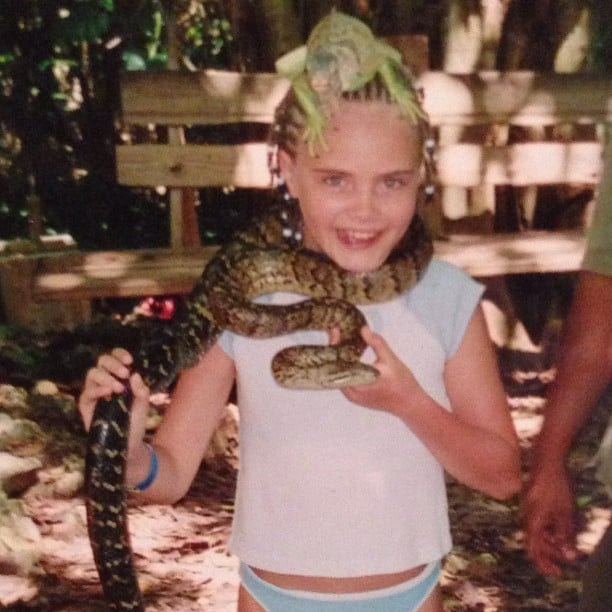 Even as a kid, Cara was a wild child. Source: Instagram user caradelevingne