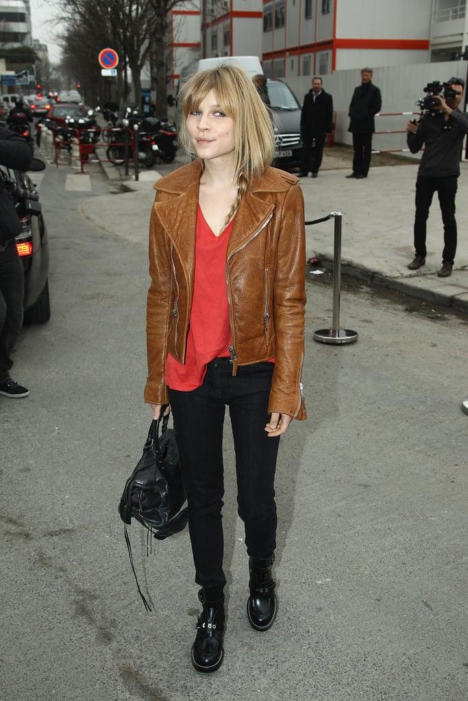 Clémence Poésy was perfectly street-chic outside Balenciaga.