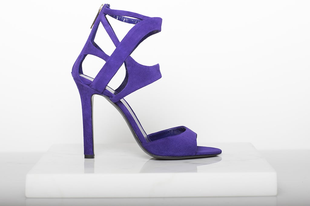 Fatale Suede High Heel Sandal in Purple ($795) Photo courtesy of Tamara Mellon