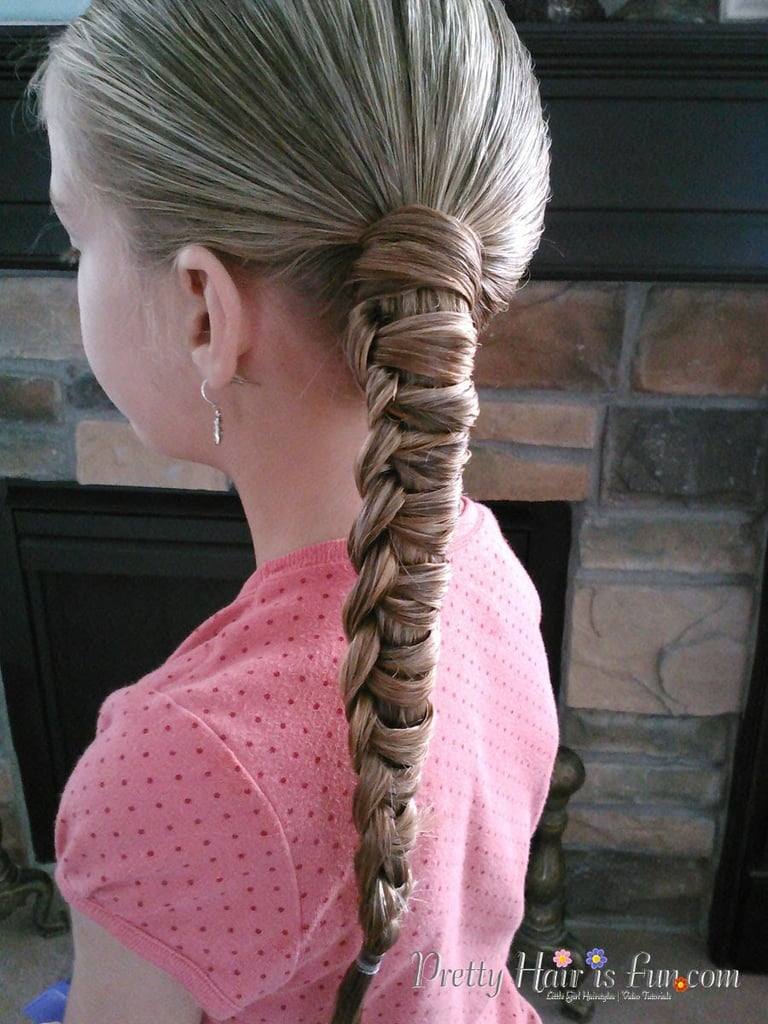 Chinese Staircase Braided Ponytail Tutorial