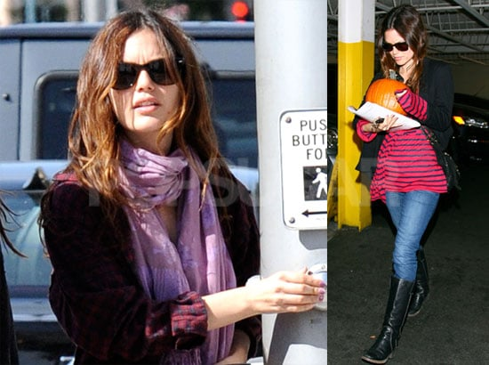 Photos of Rachel Bilson Buying a Pumpkin at a Grocery Store in LA