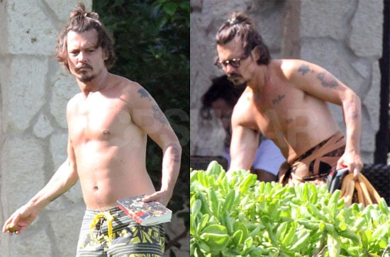 Pictures of Johnny Depp Shirtless in Hawaii