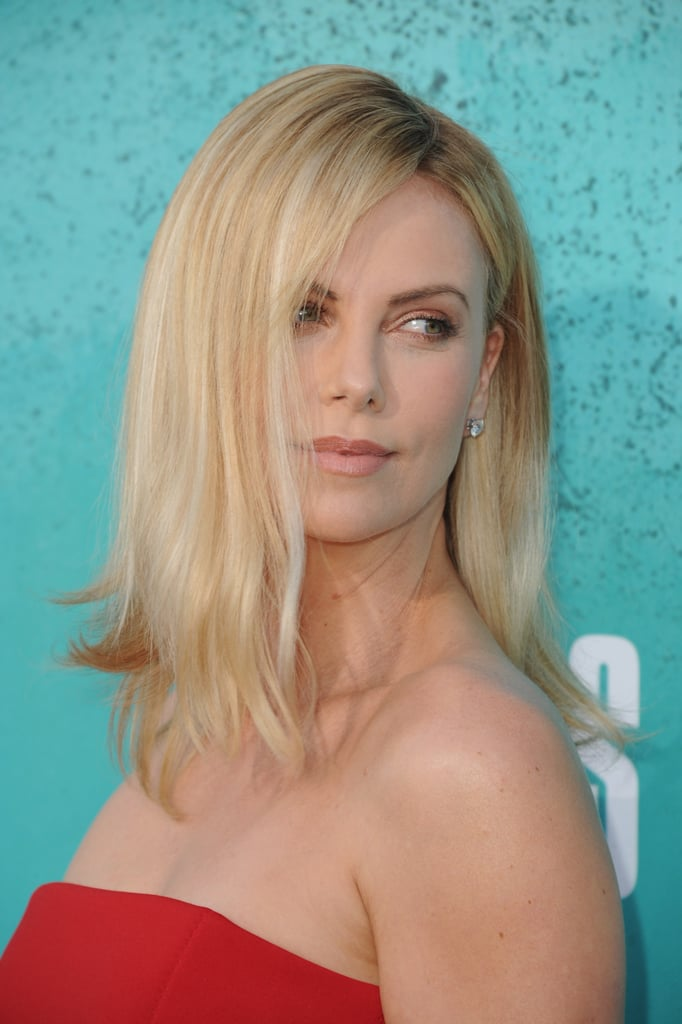 Charlize Theron posed at the MTV Movie Awards.