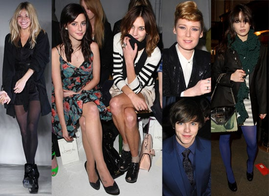 Photos From London Fashion Week Fall 2009 Including Alexa Chung, Sienna Miller, Kaya Scodelario, Roisin Murphy, Nicholas Hoult