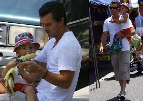 Photos of Kingston and Gavin Rossdale Without Pregnant Gwen Stefani