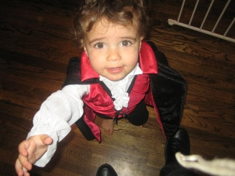 The Lil Vampire Wants His Candy Now!