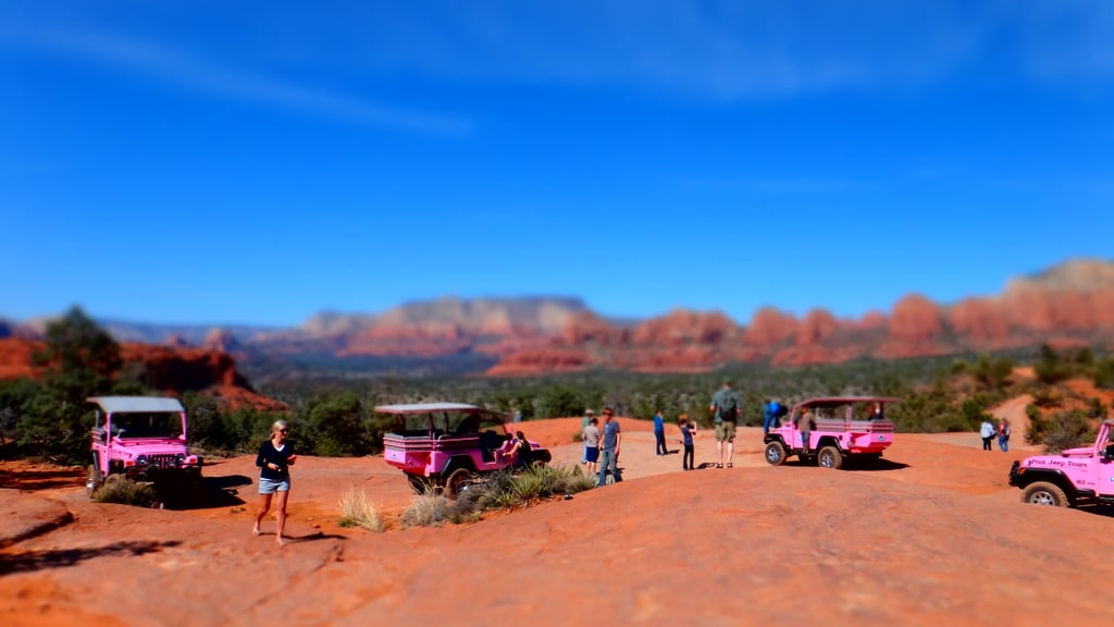 Pink Jeeps in Miniature