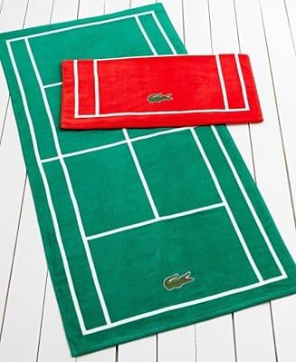 Lacoste Court Beach Towel