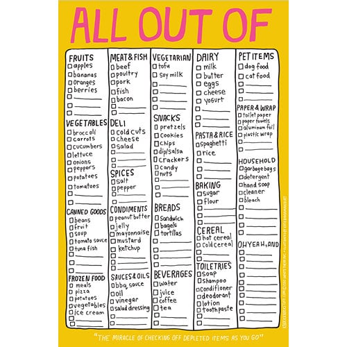 """""""All Out Of"""" List"""