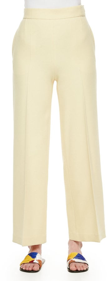 The Row Wide-Leg Stretch Wool Pants in Yellow ($1,490)