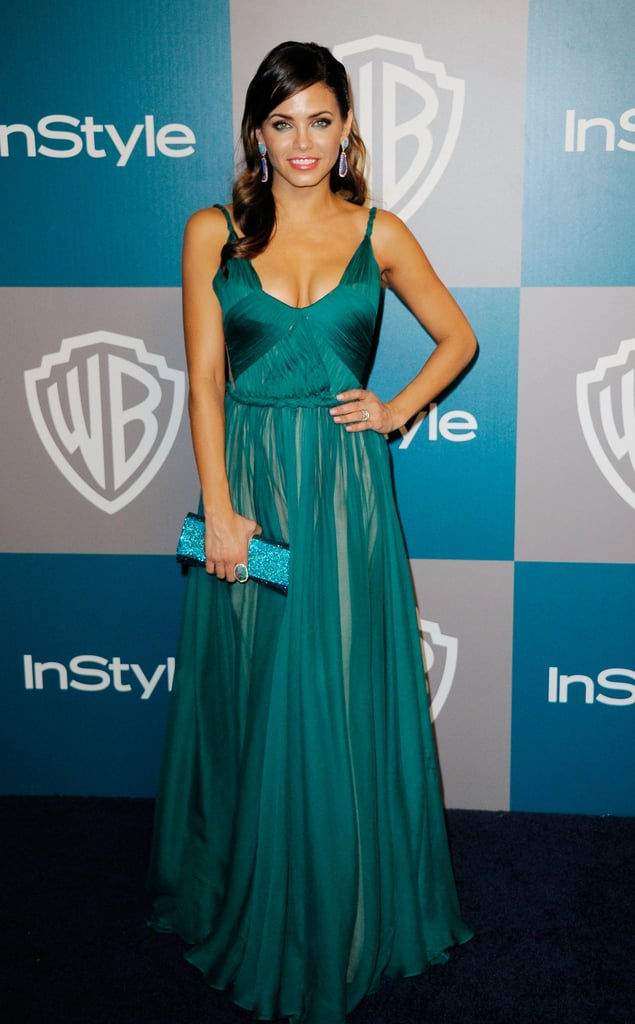 Jenna Dewan was in green for InStyle's Golden Globes afterparty.