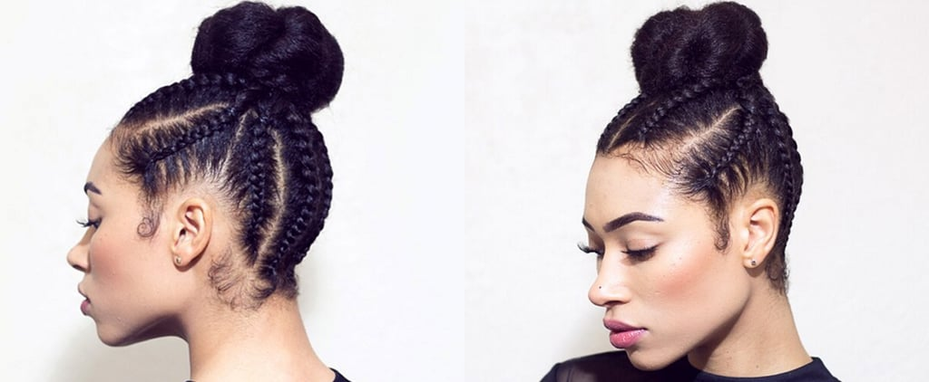 This Cornrow Braided Bun Will Be Your Favorite Spring Hairstyle