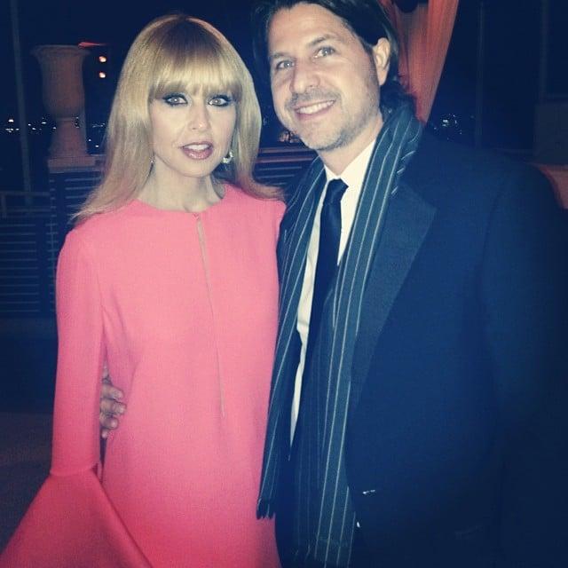 Rachel Zoe enjoyed date night at the Golden Globes. Source: Instagram user rachelzoe