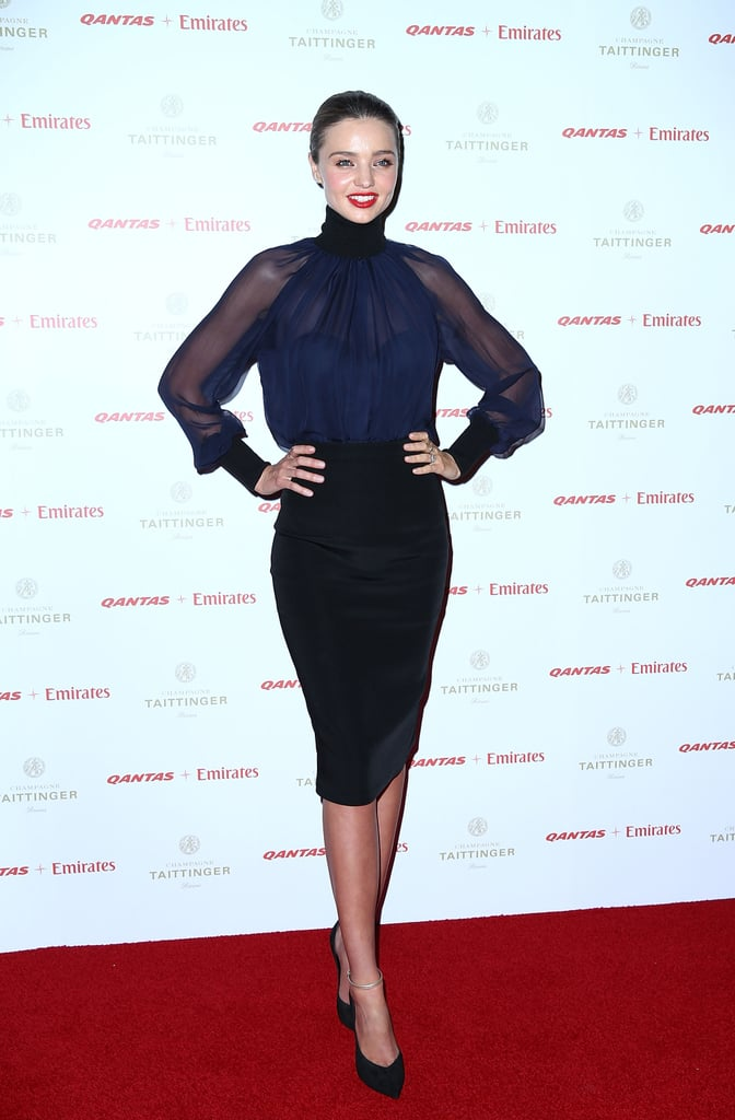 Miranda Kerr Gets Sexy For a Qantas Dinner With John Travolta