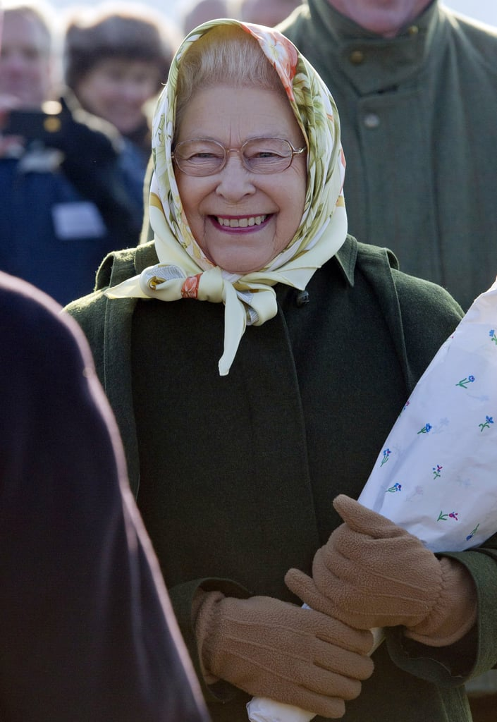 Queen Elizabeth flashed a big smile.