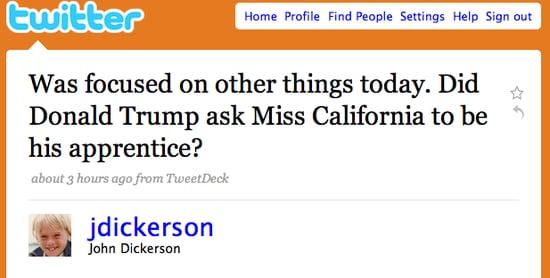 Tweet Nothings: On Yesterday's Odd Couple in Headlines