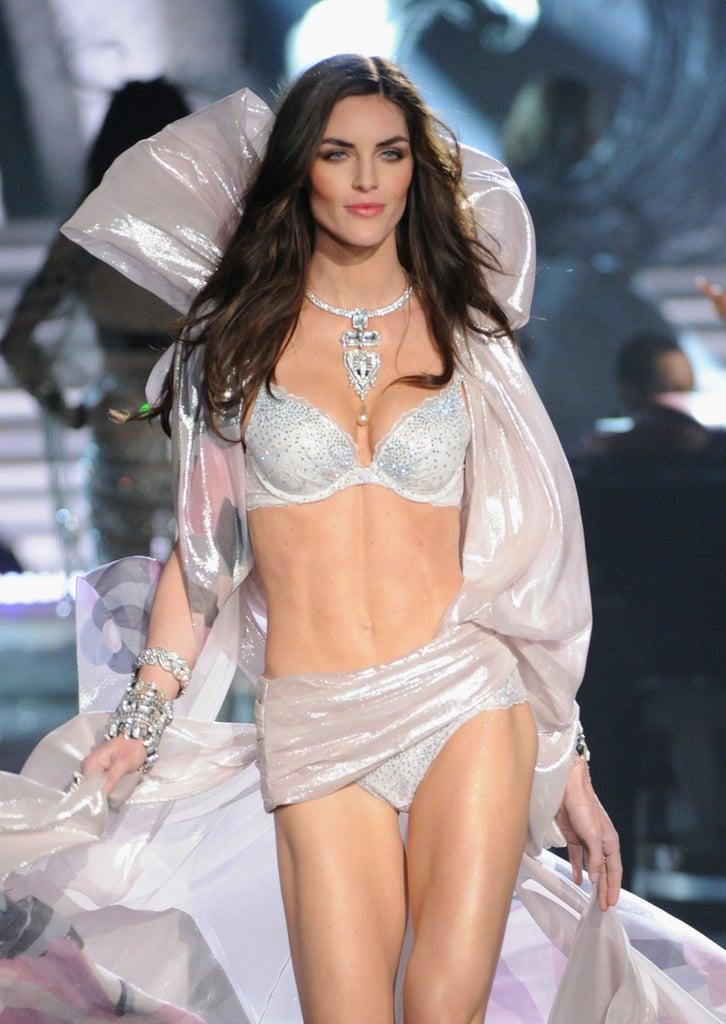Hilary Rhoda walked in the Victoria's Secret Fashion Show.