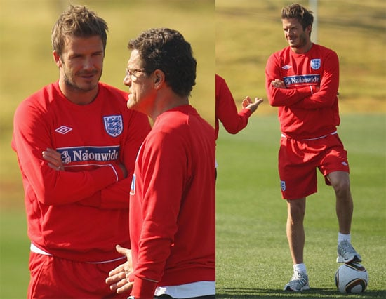 Pictures of David Beckham Practicing With England's World Cup Soccer Team