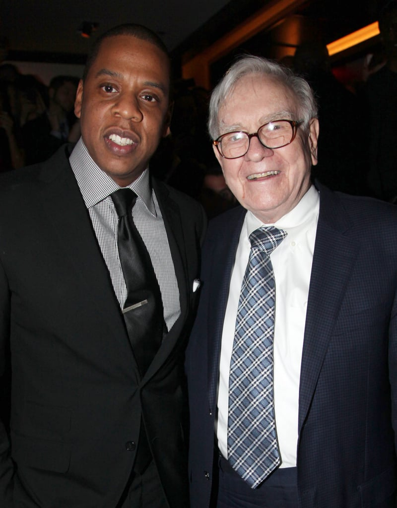 Jay-Z and Warren Buffett hung out at the grand reopening of Jay-Z's 40/40 Club.