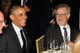 Barack Obama attended the USC Shoah Foundation's annual gala with Steven Spielberg in May 2014.