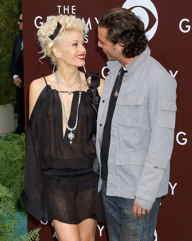 The happy couple shared a look of love at the LA Grammys in February 2005.