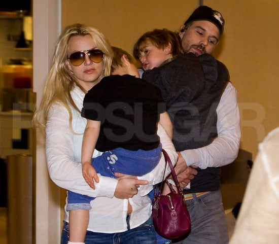 Pictures of Britney Spears With Jason Trawick and Sean Preston and Jayden James at LAX