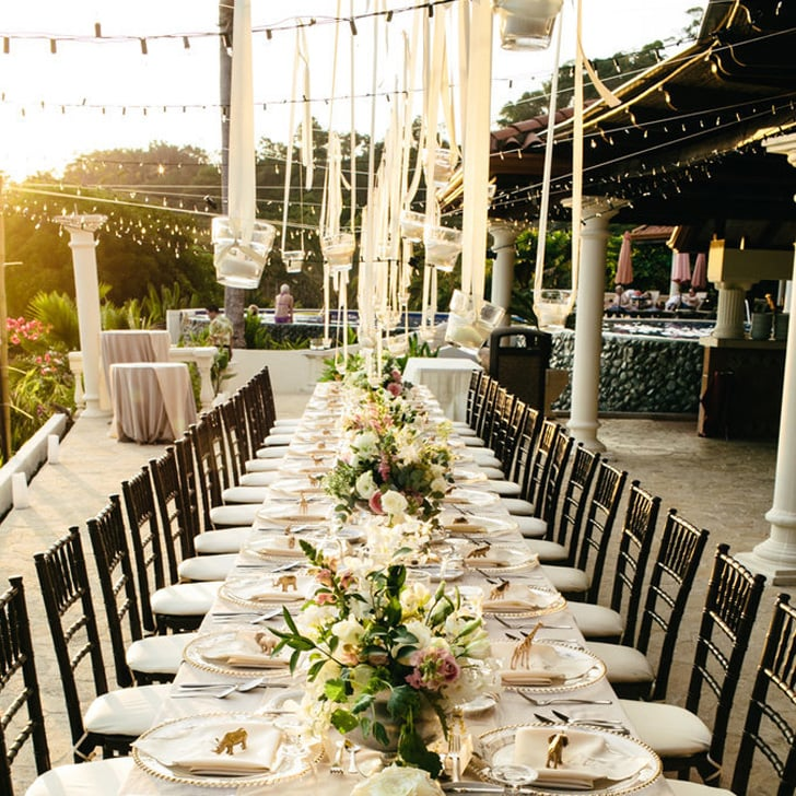 Ideas for outdoor wedding reception tables popsugar home for Home decorations for wedding