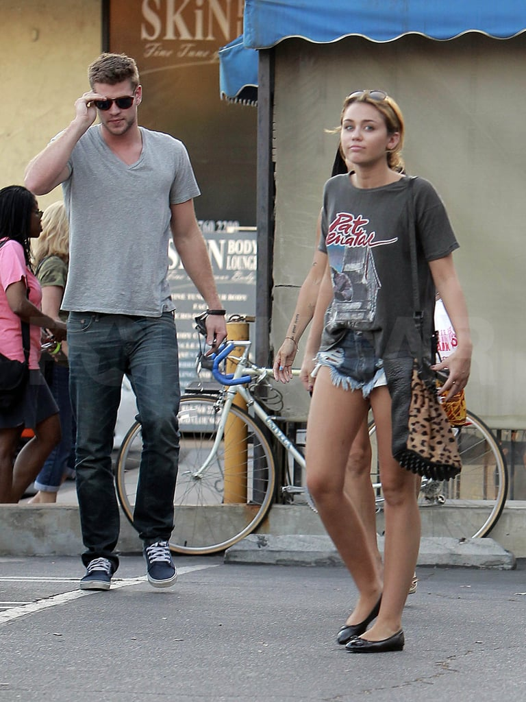Miley wore short shorts.