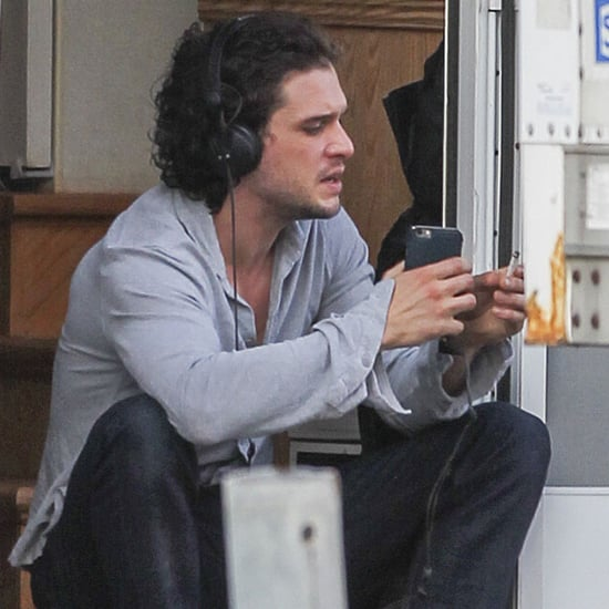 Kit Harington Listening to Music Photo July 2016