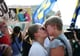 A couple shared celebratory kisses after the US Supreme Court made historic steps toward marriage equality.