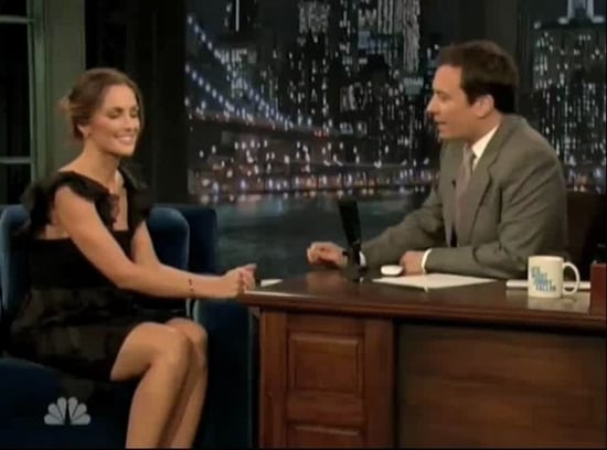 "Minka Kelly Jokes About Her Dad's ""Bunny Ears"" on Jimmy Fallon"
