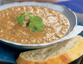 Fast & Easy Dinner: Indian Roasted Eggplant Soup