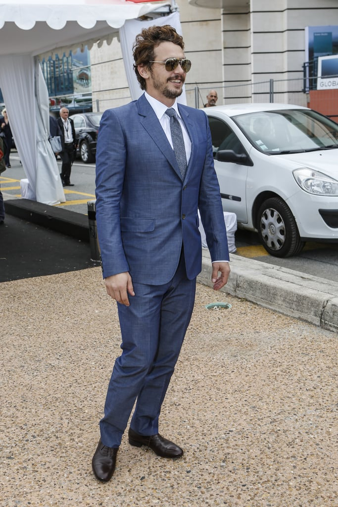 James Franco arrived to host the party.
