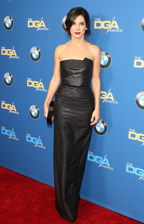 Sandra Bullock in Roland Mouret at the 2014 Directors Guild Awards