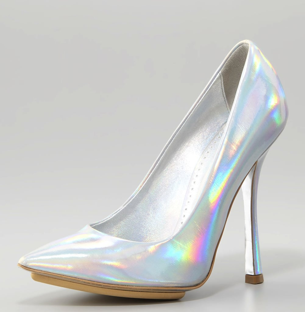 If you're a shoe lover through and through, then consider these Stella McCartney Mirror Prism Pumps ($760) a surefire way to wear your holographic heart on your sleeve.