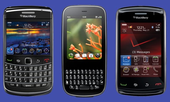 The BlackBerry Bold 9700, the Palm Pixi, and the BlackBerry Storm2 Come to Retailers This Month