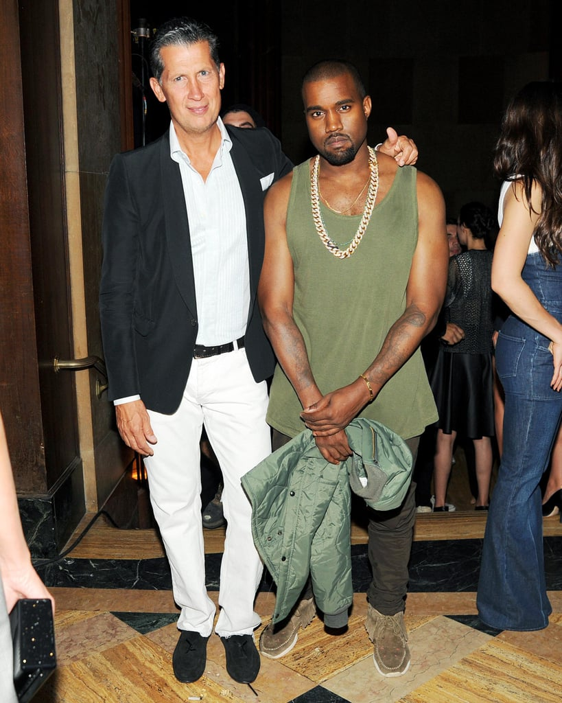 Kanye West met up with Stefano Tonchi at the Generation W party on Monday night.