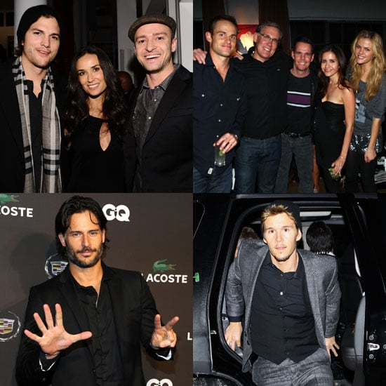 Pictures of Justin Timberlake, Demi Moore, Andy Roddick, Ashton Kutcher at Pre Super Bowl Parties