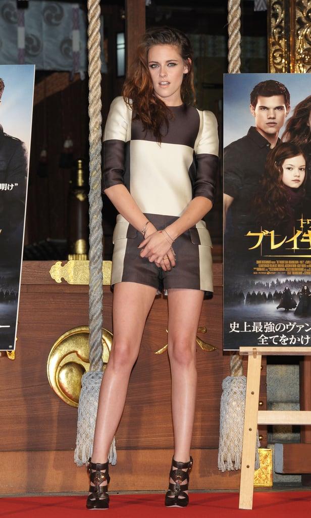 Kristen Wears Short Shorts to Kick Off Breaking Dawn Promotions