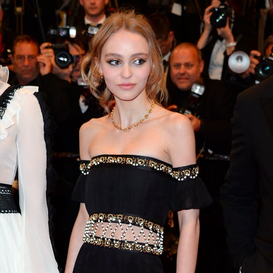 Lily-Rose Depp's Black Chanel Dress at Cannes 2016