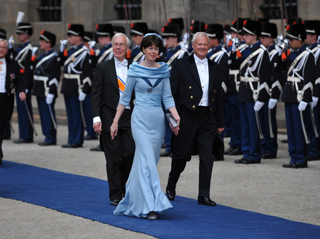 Retired Dutch politician Herman Tjeenk Willink and Dutch ambassador Renée Jones-Bos arrived at the inauguration ceremony.