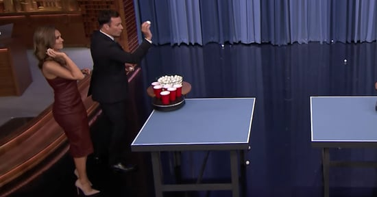 Jessica Alba Plays Roomba Pong on Tonight Show